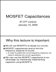 MOS Capacitances