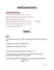Applied Corp Finance - Answers (Ch 7-8).docx
