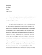 exploring gender roles in the odyssey essay