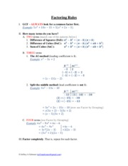 Factoring+Rules