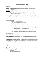 Communications Study Guide #2