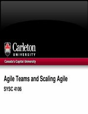 6 Agile Teams and Scaling Agile