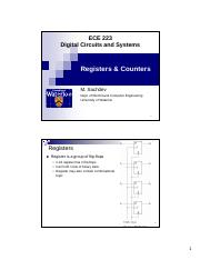 ECE 223 Registers and counters