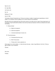 Athletic Booster Club (Merged) Assignment