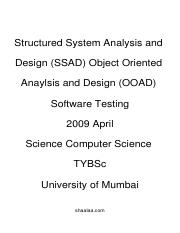 (www.entrance-exam.net)-SSAD, OOAD Software Testing Sample Paper 3