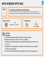Data Science with SAS - Course Outline.pdf