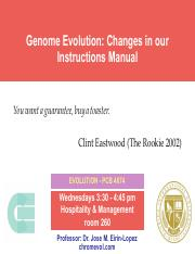 Lecture 16- Genome Evolution