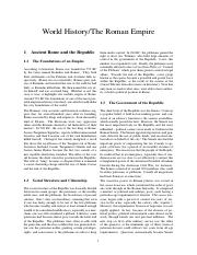 World History%2FThe Roman Empire