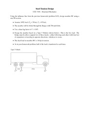 Homework on Steel Tension Design