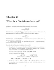 Confidence Interval Notes