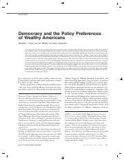 22 Democracy and the Policy Preferences of Wealthy Americans.pdf