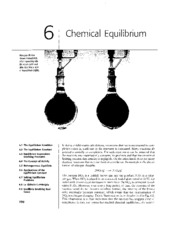 Chapter 06 - Chemical Equilibrium