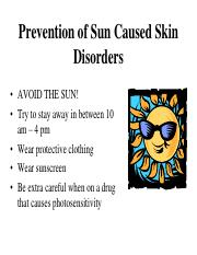 5. sunburns and sunscreens