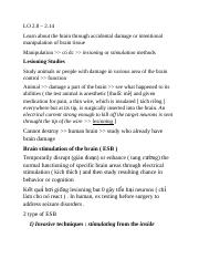 Knowledge for test 2 - LO 2.8 to 2.14 - Copy.docx