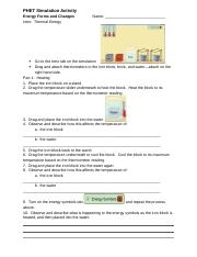 PHET Energy Forms and Changes - PHET Simulation Activity ...