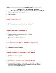 CHM1045C Test 2 Version 1 answers