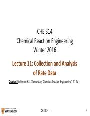 CHE 314_L11_Rate Data Collection & Analysis