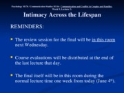 Wk. 9, Lect. 2 - Relationships Across the Lifespan