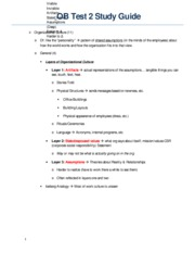 OB Test 2 Study Guide