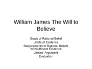 James Will to Believe