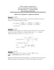 FINA1310ABC - HW#1 Suggested Solutions