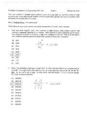 Spring 2010 Exam 1 Solutions