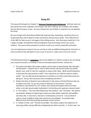 English 1B  Essay 2 Freedom and Confinement.docx