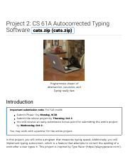 Project 2: CS 61A Autocorrected Typing Software | CS 61A Fall 2019.pdf