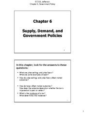 Chapter 06 Supply Demand and Government Policies 1