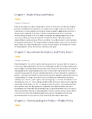 Public Policy Complete Chapter Summaries