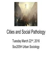 LECTURE8 UC Gillis Cities and Social Pathology Bannister Fyfe Pain Indian Posse