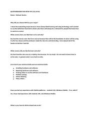 QUESTIONNAIRE FOR Netw 494.docx