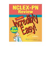NCLEX-PN Review Made Incredibly Easy! 3rd - Lippincott Williams & Wilkins