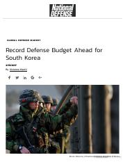 Record Defense Budget Ahead for South Korea.pdf