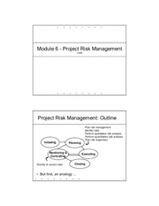 6. Project Risk Mgmt - PM ASP1001H v2009-1