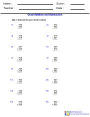 Octal Addition and Subtraction Worksheet.pdf
