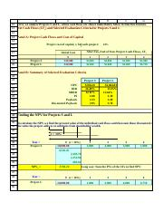 Capital Budgeting Excel