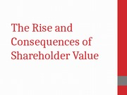 The Rise and Consequences of Shareholder Value-1