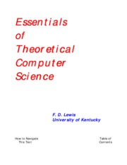 Essentials of Theoretical Computer Science