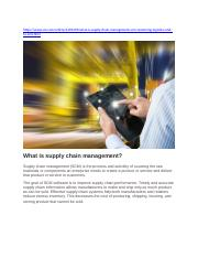 What Is Supply Chain Management.docx