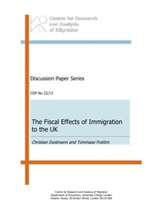 Fiscal Effects of Immigration to the UK