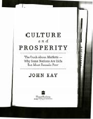 Culture Prosperity CH 23 24 25 reading
