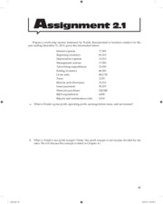FI 3300 - Ch 2 - Book Assignment Questions