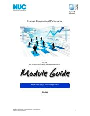 Strategic Organisational Performance Module Guide 2016 - Provisional.pdf