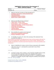 MME40001 Maintenance  and Reliability with suggested answers(1).doc