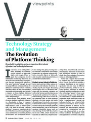 CACM+Jan+2010+-+Evolution+of+Platform+Thinking