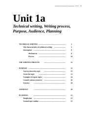 1a Technical writing, Writing process, Purpose, Audience, Planning 141(2).docx