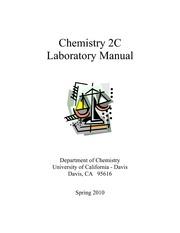 2clabmanual chemistry 2c laboratory manual department of chemistry rh coursehero com UC Davis Organic Chemistry UC Davis Organic Chemistry