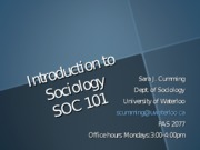SOC 101 - Lecture # 1 - Understanding Sociological Imagination