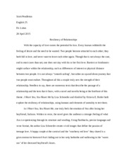 English 25 Analytical Paper